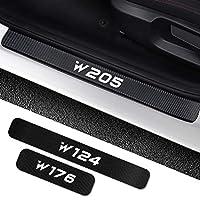 メルセデスベンツW205 W212 W204 W203 W210 W213 W220 W221 W222 W124 W126 W140 W168 W169 W176車のドアシルステッカー付属品 炭素繊維のしきい値 (サイズ : For W177)
