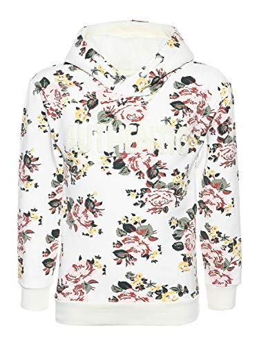 Blue Effect Mädchen Sweatshirt Hoodie mit Blumenprint, Off White Blumen, 140