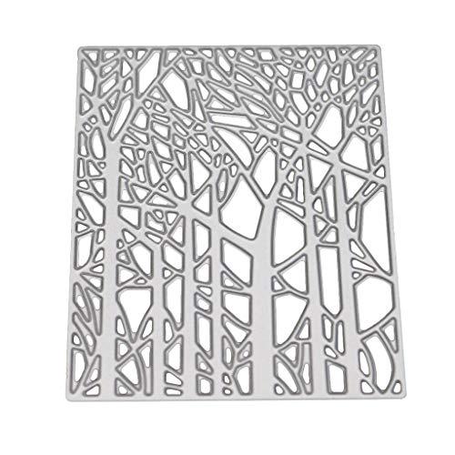 Ncbvixsw Wald DIY Stanzschablone, Metall Stanzformen Schablonen Scrapbooking Prägeschablonen, Handwerk Prägen Papier DIY Herstellung Geschenk Cutting Dies Neue Z