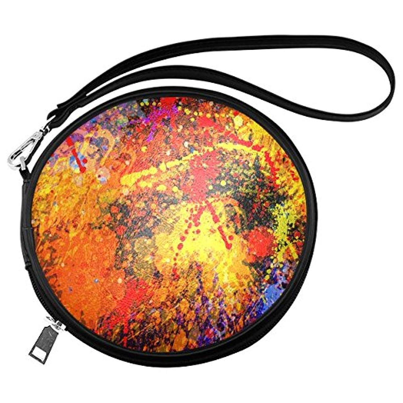 費やす警察署一月(ArtsAdd) メイクバッグ Makeup Bag ラウンド 丸形 メイクボックス コスメバッグ 化粧道具入れ バニティーケース コスメポーチ