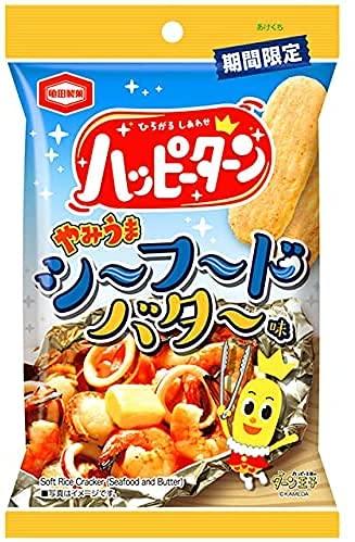 亀田製菓 ハッピーターン やみうまシーフードバター味 39g×3袋