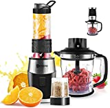 Food Blenders, AETKFO 700W Smoothies Makes Blenders Food Processor Mixer 3-in-1 Electric Blender