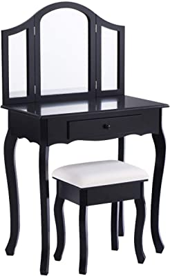 Amazon.com: GW Dressing Table,Bedroom Simple Modern and ...