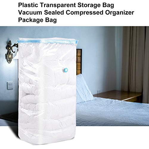 Jullyelegant Plastic Transparent Bag Saver Space Saving Storage Bag Vacuum Sealed Compressed Organizer Package Bag For Family Household Transparent 90x130cm