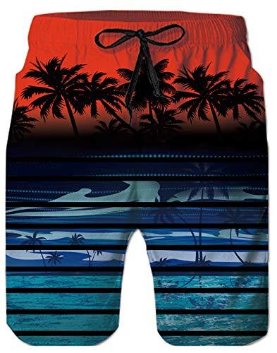 Tronchi per la Spiaggia da Uomo Bermuda Costume da Bagno Ragazzo Modello Interessante 3D Stampato Pantaloncini da Bagno con Pocket