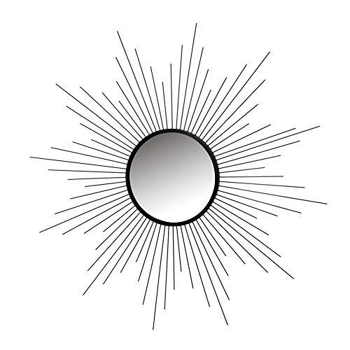 Espejo Sol Negro de Metal y Cristal de 80x80 cm - LOLAhome