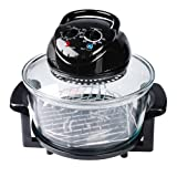 12 Litre Halogen Oven in Black to Thaw, Toast, Grill and Bake