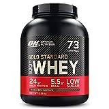 Optimum Nutrition Gold Standard 100% Whey Protéine en Poudre avec Whey Isolate, Proteines Musculation Prise de Masse,...