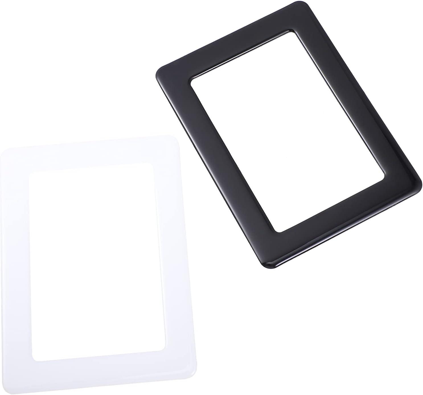 OSALADI 2pcs Magnetic Photo Frame Refrigerator Picture Frame Pra