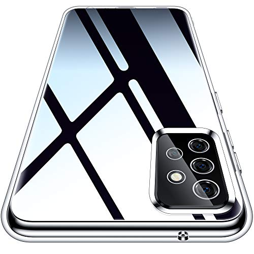 Vakoo Clear Serie Handyhülle für Samsung Galaxy A72 Hülle, Durchsichtige