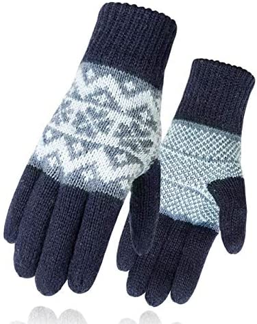 Men Mitten Casual Gloves Knitted Gloves Winter Warm Men&Women Guantes Creative Thicken Gloves Warm Print Quality Gloves - (Color: 7, Gloves Size: One Size)