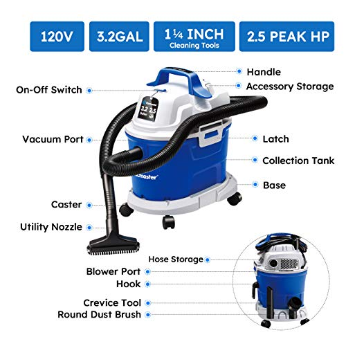 VacuMaid GV30 Wall Mounted Garage Vacuum