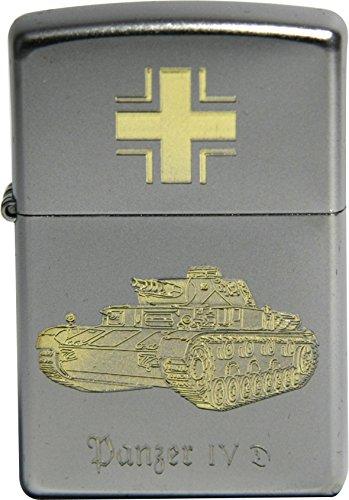 Zippo Panzerkampfwagen IV D-Diamandgravur, Silber, smal