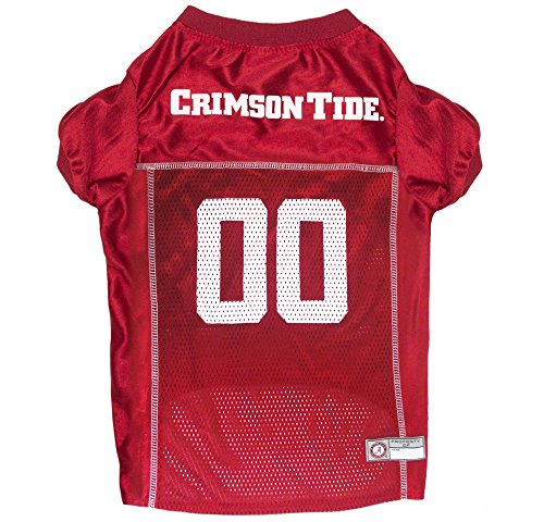 Pets First NCAA Alabama Crimson Tide Dog Jersey, X-Small