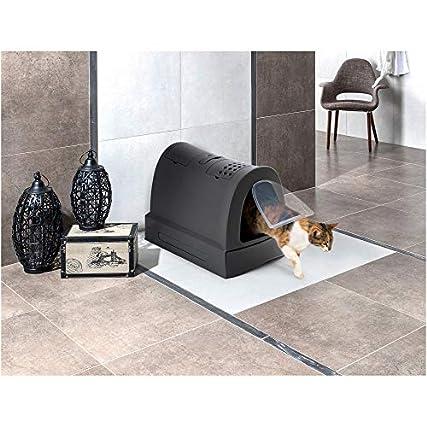 Imac – Toilette lettiera chiusa ZUMA. Colore nero. 40x56x42,5 cm
