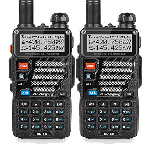 トランシーバー 無線機 U/Vデュアルバンド 超長距離タイプ 5RE VOX機能付き 簡単操作 災害・地震 緊急対応 2台セット