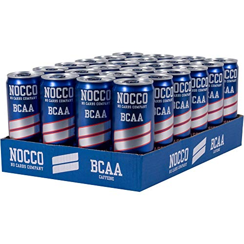 NOCCO BCAA Energy Drink 12 x 330 ml, 180 mg Cafeïne (Passie) …