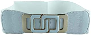 CHOCOLATE PICKLE New Womens Contrast Interlock Buckle Elasticated Waist Cinch Belts One Size