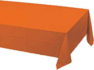 Creative Converting Paper Banquet Table Cover, Sunkissed Orange