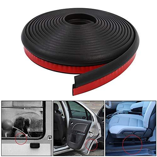Keenso Autotürdichtung Z-Form Universal Car Rubber Seal Protector Schutzstreifen-Tür-Fenster-Dichtungs-hohler Dichtungsstreifen für Fenstertür-Motorabdeckung 4M Länge