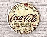 Weird Or Wonderful Gran botella de 40 cm con signo superior inspirado en Coca Cola Coca Cola Publicidad Refresco Pepsi Fizzy Vintage Retro Mancave Hombre Cueva Pub Bar Regalo