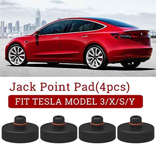Model 3 Wagenheber Gummiauflage Jack Point Pad Adapter für zum Schutz Batterie Chassis Farbe für Model 3 Model S Model X, 4 Stücke