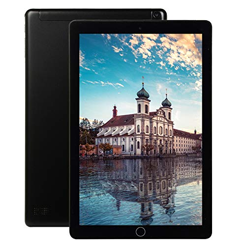 ELLENS Tableta de 10 Pulgadas, tabletas de teléfono 3G, ROM de 16 GB, extensión de 128 GB, Ranuras para Tarjetas SIM Dobles, procesador de Cuatro núcleos, Pantalla táctil HD, WiFi, Bluetooth, GPS