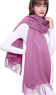 SUPCOOKI Large Soft Cashmere Scarf for Women with Gift Box Light Weight Blanket Wraps Shawls Solid Colors