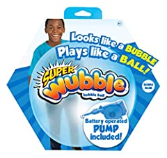 Looks like a bubble, plays like a ball! Inflates up to 80cm Includes pump for easy inflation Looks like a bubble, plays like a ball Throw it, squeeze it, catch it, whack it