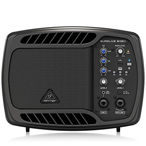 Behringer Ultra-Compact 50-Watt PA/Monitor Speaker with MP3 Player and Bluetooth Audio Streaming (B105D)