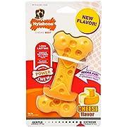 Nylabone 984104EU Dura Power Chew, Kauknochen mit Geschmackslöchern, Käsegeschmack, für mittelgroße Hunde (bis 16 kg), M
