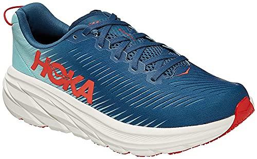 Hoka Men's Rincon 3 Road Running Shoe, Real, Real Teal/Eggshell Blue, 11.5 UK