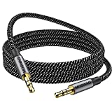 MOSWAG 3.28FT/1Meter 3.5mm Aux Cord to 3.5mm Audio Aux Jack Cable Male to Male Aux Cable Nylon Braided Stereo Jack Cord for Phones,Headphones,Speakers,Tablets,PCs,Music Players and More
