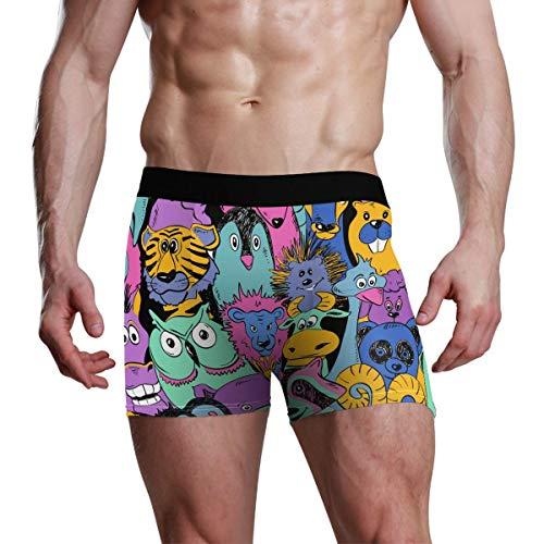 GOSMAO Herren Boxershort Boxer Tiermuster Männer Unterhosen Unterwäsche,5,XXL