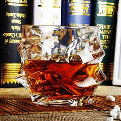 Winebowl Whiskey Glass Cups Lead-Free Crystal Cups High Capacity Beer Glass Wine Cup Bar Whiskey Glass Champagne Flutes,Black