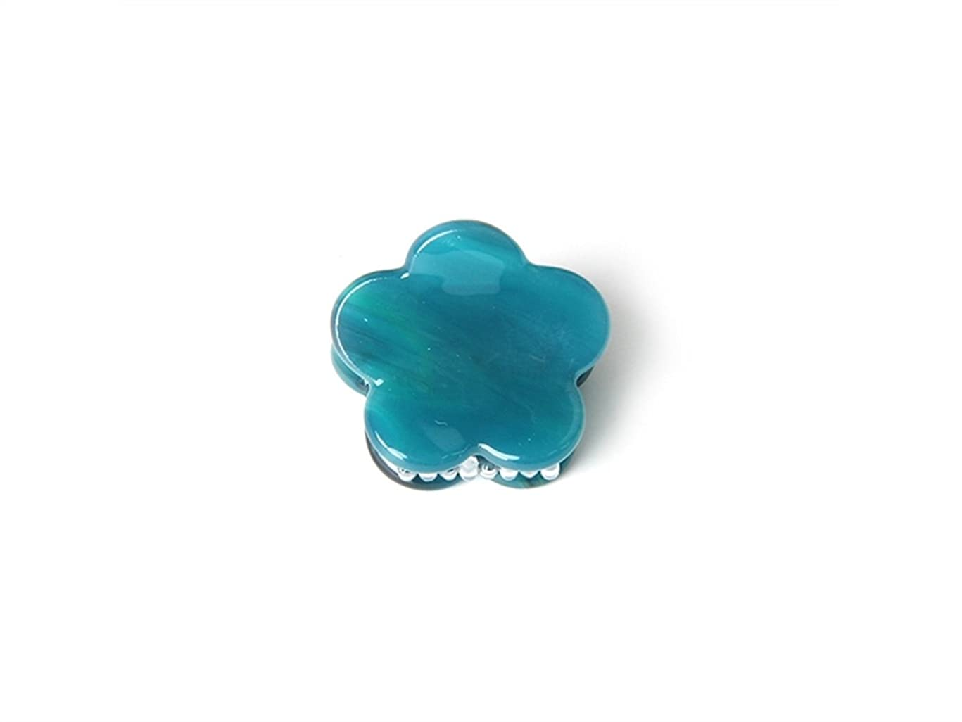 安息修復ユダヤ人Osize 美しいスタイル シンプルなフラワースクエアラウンド型の爪クリップミニジョークリップ(緑の花の形)