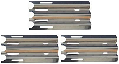 Hongso Grill Replacement Parts for Vermont Castings CF9030, VM400, VM450, VM450SSP, Jenn-Air JA460 &More, 14 1/2 inch Stainless Steel Heat Shield Plate Tent Burner Cover Flame Tamer SPZ081 3-PK