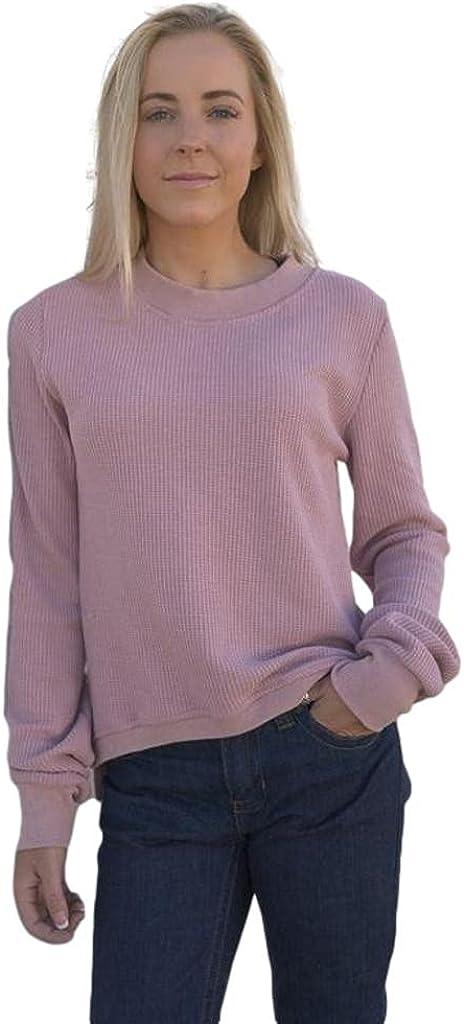 Kimes Ranch Western Sweatshirt Womens Acid Wash XXL Wine Portales-Crew