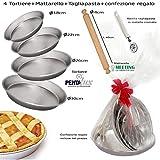 Pedrini Idea Regalo Pasqua San Valentino Festa della Mamma Kit 4 ruoti (Stampo per crostata)...