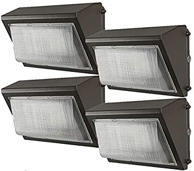 (4 Pack) Kadision LED Wall Pack 100W with Dusk-to-Dawn Photocell, 5000K 12000lm Replaces 300-400W HPS/MH, IP65 Waterproof Wall Mount Light for Commercial Building, Outdoor Spaces, 100-277V ETL DLC