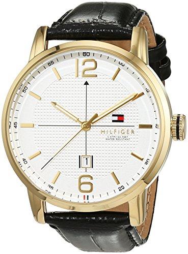 Reloj analógico para hombre Tommy Hilfiger 1791218, mecanismo de cuarzo, diseño clásico, correa de piel