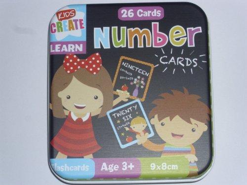 Cartes Apprentissage Des Chiffres Pour Enfants - Fourni Dans Boîte en Métal
