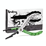 Umibozu(ウミボウズ) フィッシングプライヤー 釣り用ペンチ 超軽量 多機能 針はずし フックはずし ラインカッター 安全ロープ 専用ケース付き (ウミボウズグリーン)