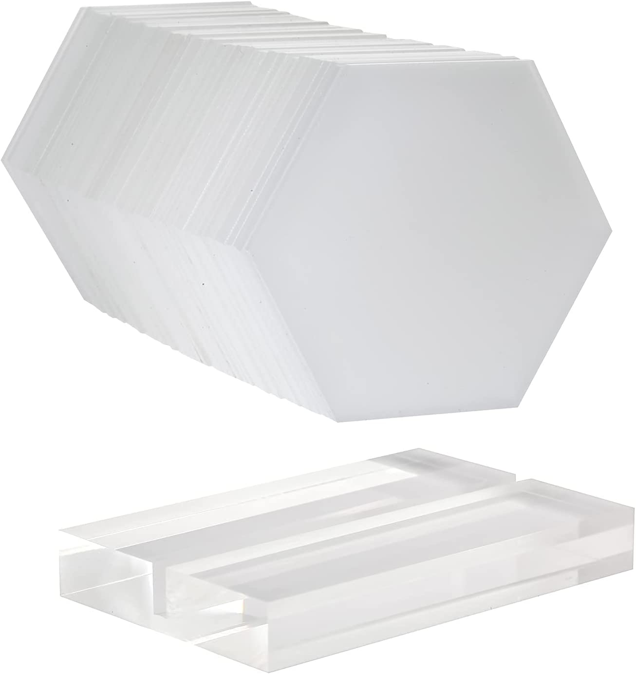 Cheap mail order specialty store HighFree 50pcs Our shop most popular Clear Hexagon Acrylic Place Cards Hold 20pcs with