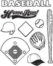 Karen Foster 9 peice Baseball Clear Stamp Set
