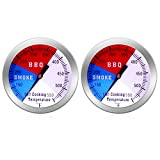 NEWSTART BBQ Thermometer Gauge - Charcoal Grill Pit Smoker Temp Gauge Grill Thermomete, Stainless...