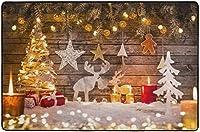 伝統的な冬の風景シーンクリスマスメリークリスマスストーリーエリアリビングダイニングルーム用ラグラグベッドルームキッチン、2'x3'保育園ラグフロアカーペットヨガマット
