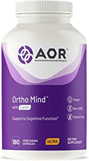 AOR, Ortho Mind, Supports Cognitive Brain Function, Energy Levels, Memory and Focus, 60 Servings (180 Capsules)