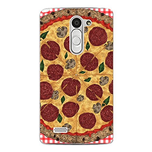DISAGU SF de SDI de 4357_ 898# zub- cc5822Diseño Carcasa para LG L Bello–Diseño Pizza Rojo cuadrícula
