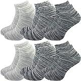 GAWILO 6 Paar Damen Sneaker Socken im degradée Erscheinungsbild – lange Haltbarkeit (39-42, farbig 3 (Set C))